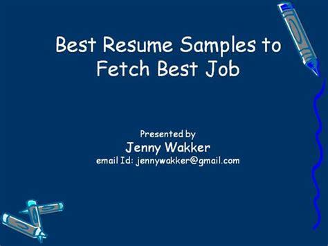 Resume Fetch Upload by Sle Resume Writing Authorstream
