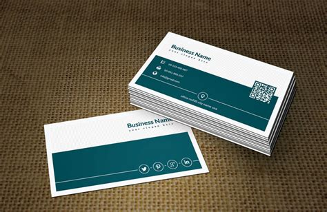 green white business card template free