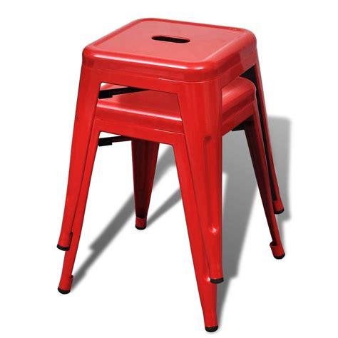 Small Mozaik 2 Pcs vidaxl co uk 2 pcs stackable small metal stool