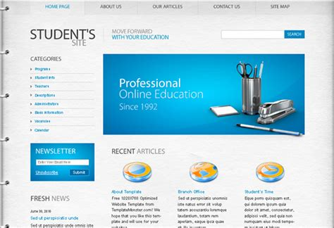 education html templates free website template category page 2 efoza