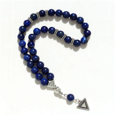 Tasbih 8mm 8mm lazuli with charm shape 33 prayer islamic muslim tasbih allah