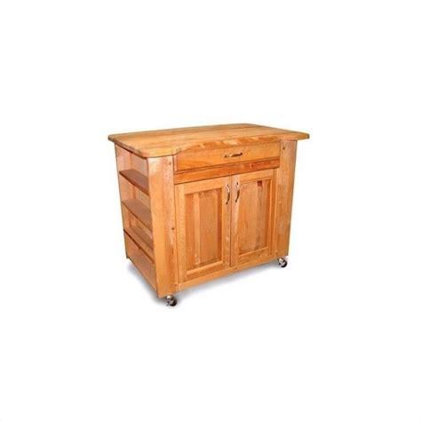 kitchen carts with storage catskill craftsmen storage medium butcher block