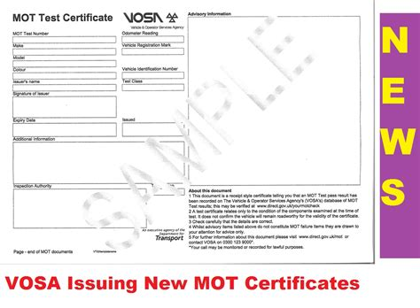 new type mot certificate clubaristo net the toyota aristo owners club