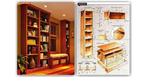 woodworking bookshelves plans