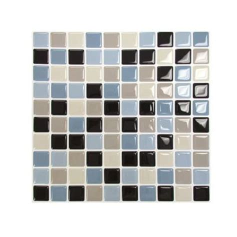 peel and stick backsplash home depot smart tiles 9 85 in x 9 85 in multi colored peel and