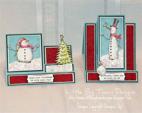 images  stair step cards  pinterest stampin  christmas snow  fun  stairs