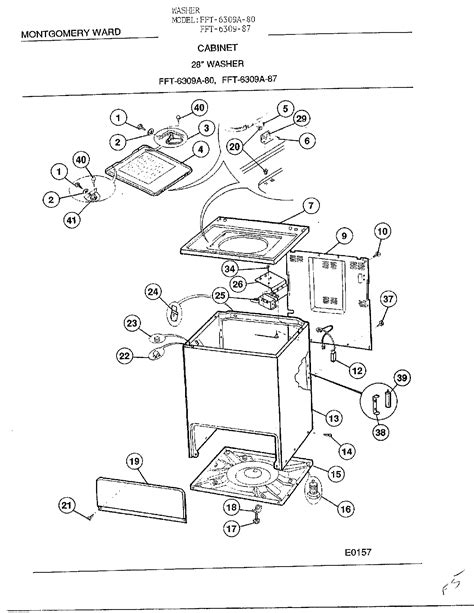 frigidaire washer parts diagram frigidaire washer parts model 6309a sears partsdirect