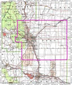 el paso county topo map of 7 of 11