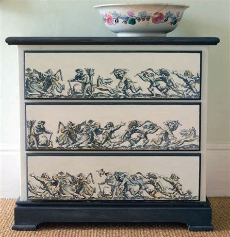 Diy Decoupage Dresser - dishfunctional designs upcycled dressers painted