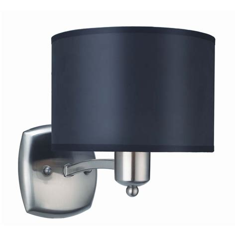 Brushed Nickel Sconce Lighting Hton Bay Murray 1 Light Brushed Nickel Sconce Ew0708bn