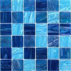 Mini Subway Tile Kitchen Backsplash shop for aquatic ocean blue 2x2 squares glass tile at