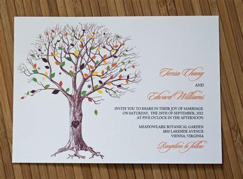 tree wedding invitations rustic tree wedding invitation with carved initials ipunya