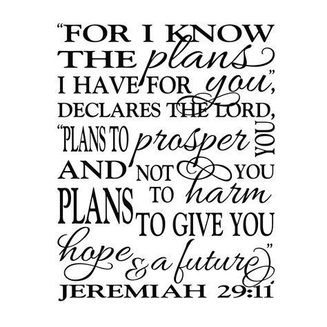 for i know the plans i have for you tattoo jeremiah 29v11 vinyl wall decal 9 for i the plans i