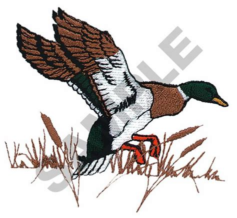 animals embroidery design mallard duck small from great