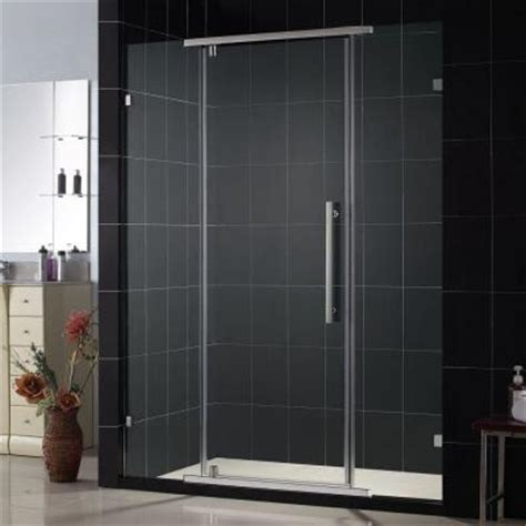Homedepot Shower Doors by Dreamline Vitreo 58 1 8 In X 76 In Frameless Pivot Shower Door In Chrome Shdr 21587610 01