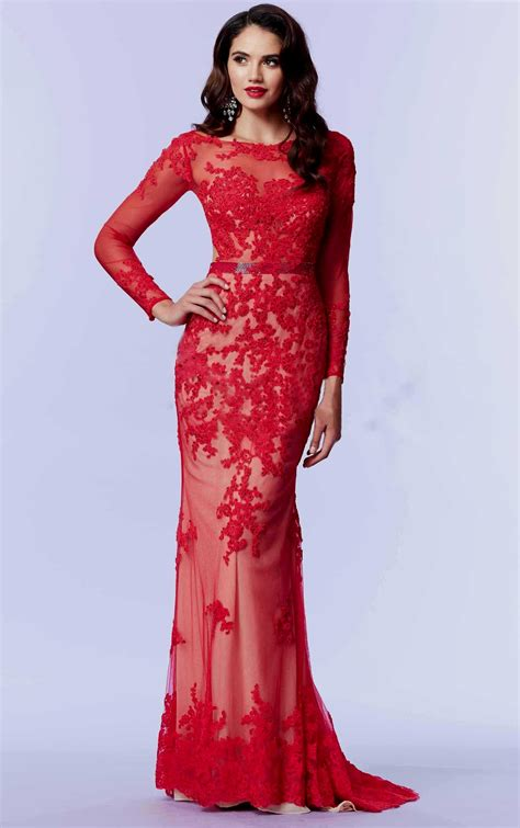 red cocktail red prom dress with lace sleeves www pixshark com