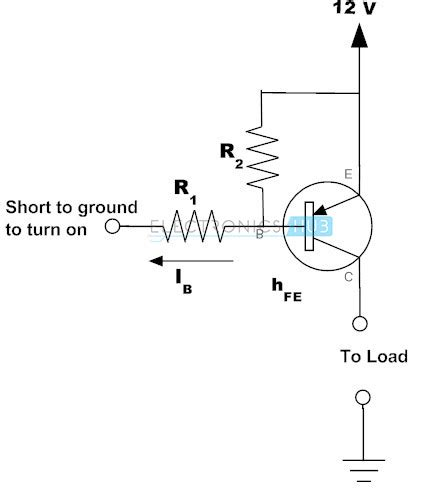 transistor as a high voltage switch working of transistor as a switch npn and pnp transistors