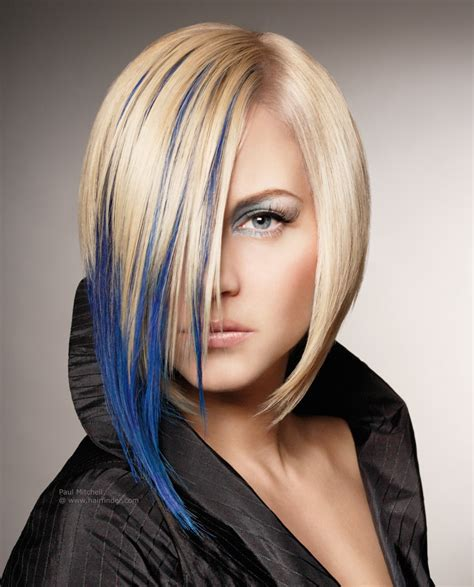 images of ladies blonde streaked hairstyles short hairstyles with blue streaks hairstyles