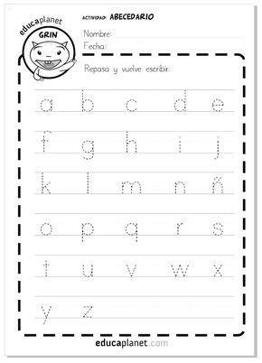 Ficha GRATIS abecedario letras minúsculas | Español