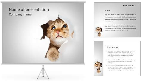 Cat Hides Powerpoint Template Backgrounds Id 0000004445 Smiletemplates Com Cat Powerpoint Template