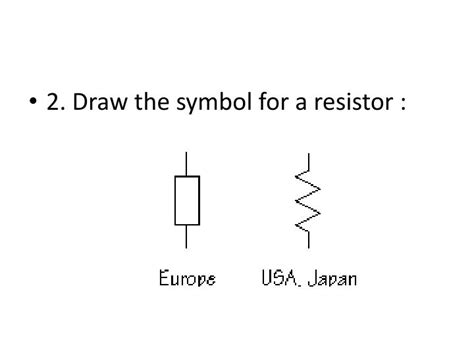 draw the circuit symbol for a resistor ppt quiz powerpoint presentation id 1587998