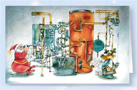 Weihnachtskarte Branchenkarte Heizungsbau Installateur