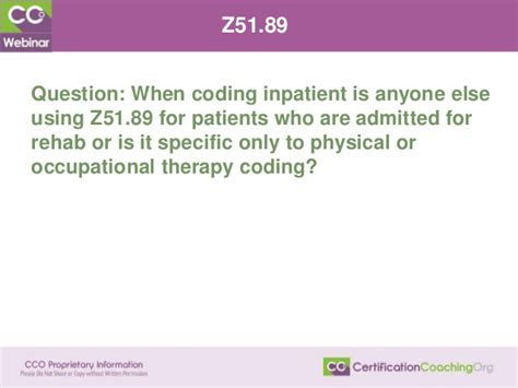 Inpatient Detox Billing Codes by May 2016 Coding Q A Webinar