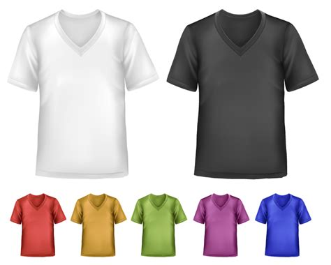 short sleeve v neck t shirts template vector free psd