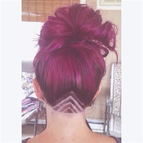 cute triangle undercut at nape triangle undercut hair to care pinterest triangles