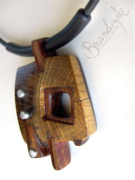 Handmade Wood Jewelry - wooden jewelry original handmade wooden necklace oak