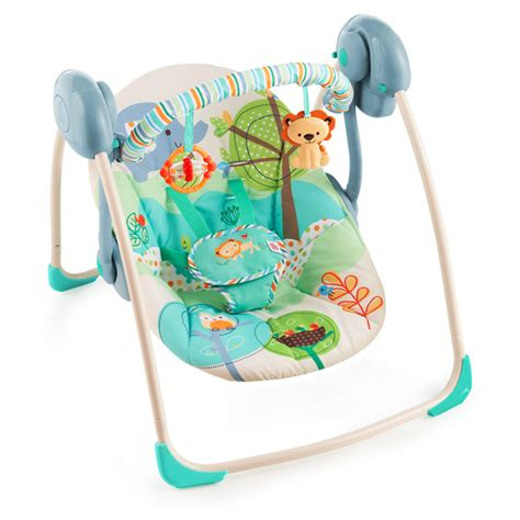 bright starts infant swing bright starts playful pals portable swing baby rocker