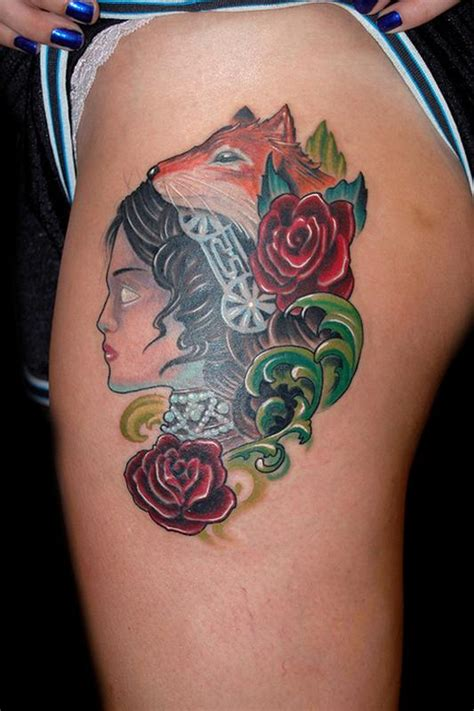 blindside tattoo blind with fox by marvin silva tattoos