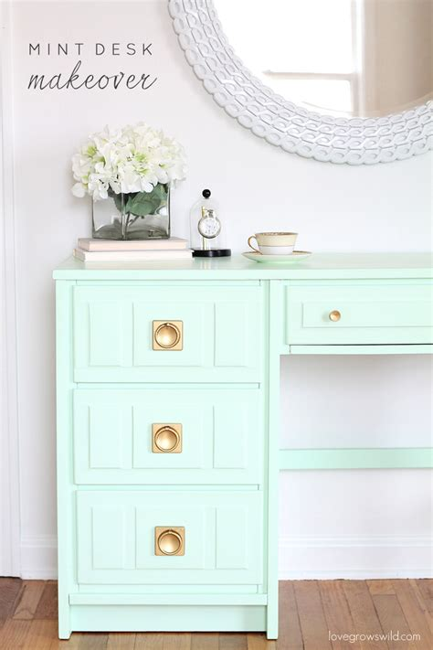 mint color dresser mint desk makeover love grows wild