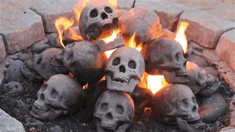 Terrifying Fireproof Human Skull Logs For Your Next Family