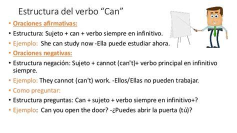 preguntas ingles estructura el verbo can ingles su uso y estructura