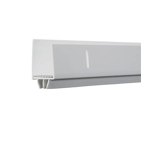 Exterior Door Bottom Weatherstripping King 1 In X 1 1 2 In X 36 In White Adjustable Door Bottom Sdb36wh The Home Depot