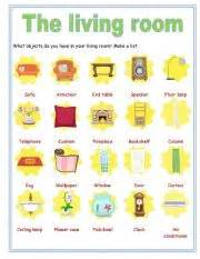 worksheet objects in the living room