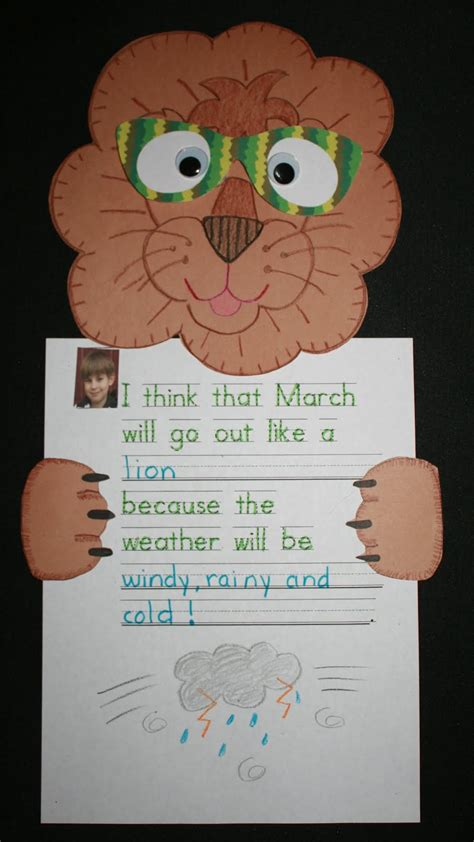 classroom freebies  march lion lamb activities