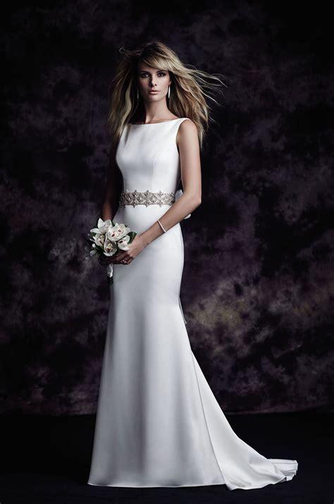 Bateau Wedding Dress by Satin Bateau Wedding Dress Style 4614 Blanca