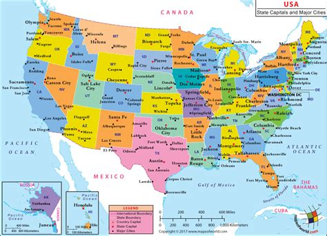 map of states of usa with name maps united states map major cities
