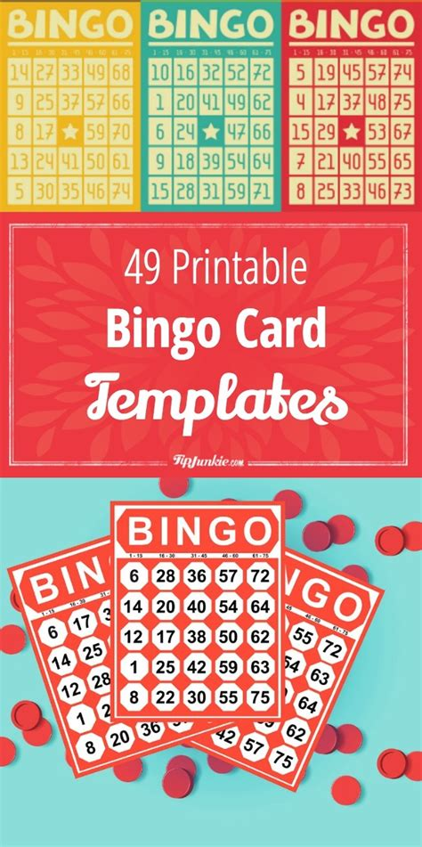 how to make bingo cards 49 printable bingo card templates tip junkie