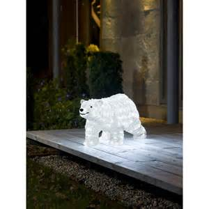 konstsmide acrylic outdoor polar bear with 200 led s