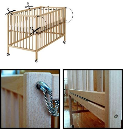 sniglar crib co sleeper ikea hackers idea in
