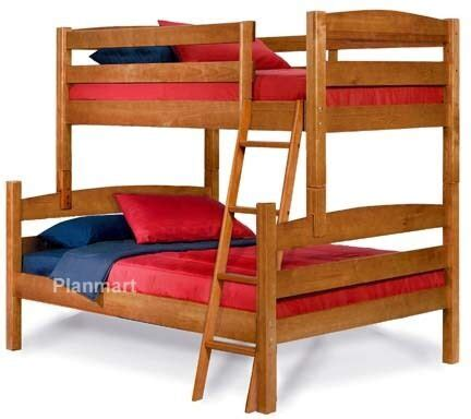 twin  full bunk bed woodworking plans buy   ebay