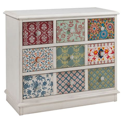 ikea multi coloured chest of drawers multi pattern drawer fronts give this charming chest an