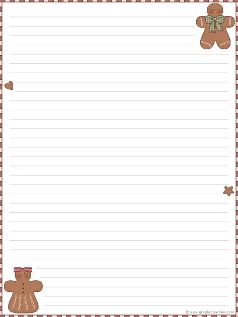 free printable gingerbread man stationary 15 best images about stationary on pinterest merry
