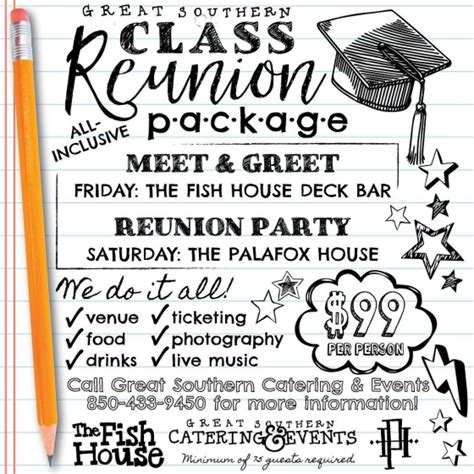 Lets A House Reunion by Great Southern Restaurants Planning Your High School