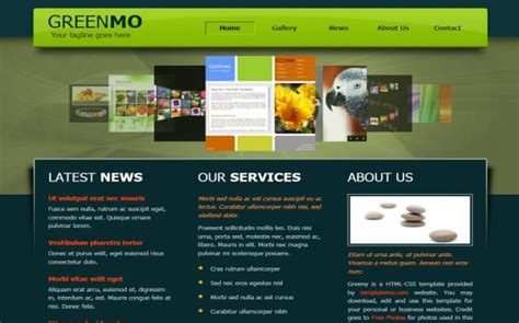free jquery black green business website template