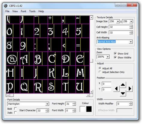 up text generator codehead s bitmap font generator