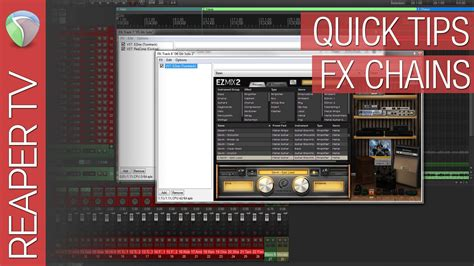 4 quick tips to find reaper quick tips creating fx chains reaper tv